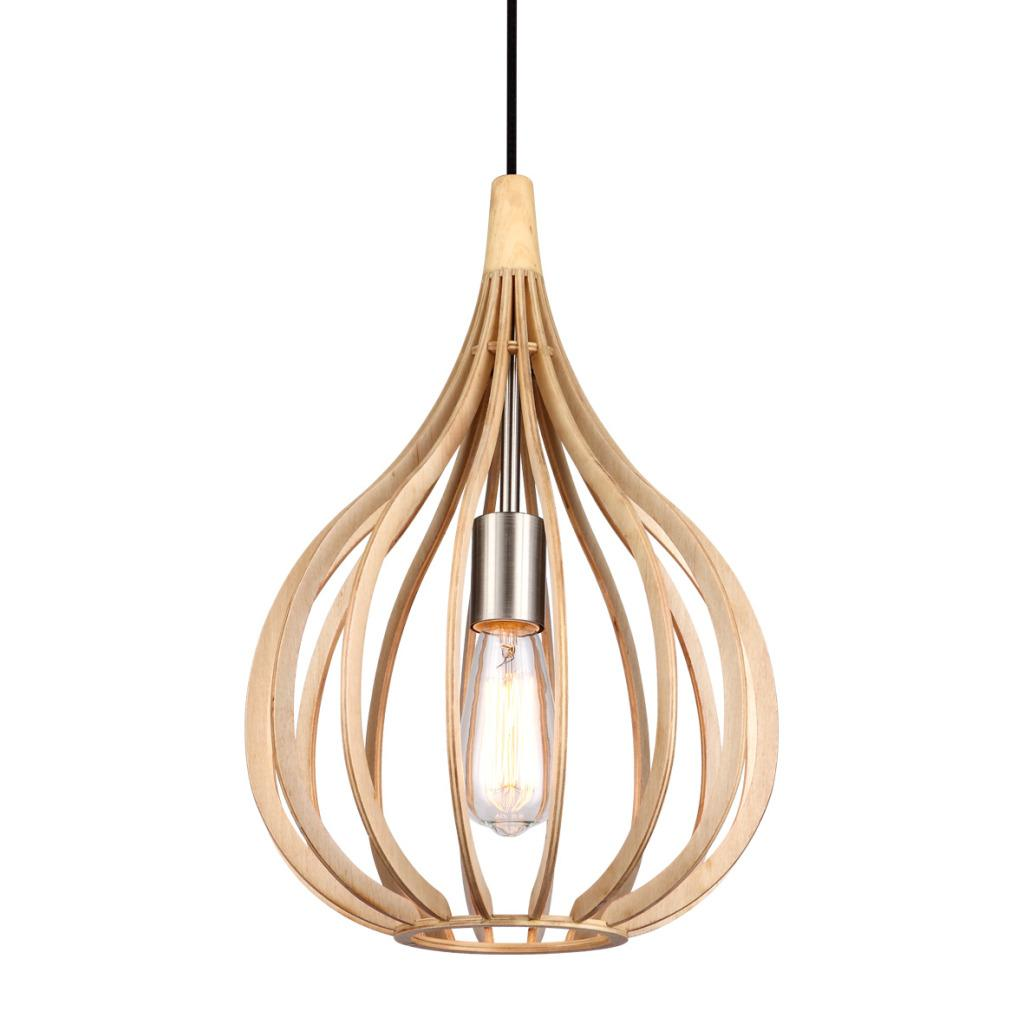 Drops 30cm ljust tr taklampor for Design lamp hout