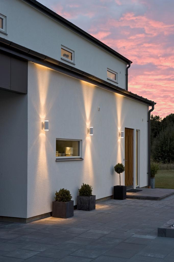Modena dubbel fasadbelysning utomhusbelysning - Apliques de luz para exteriores ...